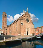 Santa Maria Gloriosa dei Frari, Venice. Tilt-shift panoramic image Royalty Free Stock Image