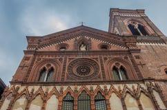 Santa Maria i den Strada kyrkan, Monza, Lombardy, Italien Arkivbilder