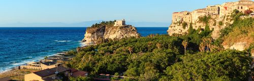 Santa Maria Island - Tropea, Calabria, Italia Immagine Stock Libera da Diritti