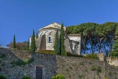 Santa Maria-kerk, Besalu, Spanje royalty-vrije stock fotografie