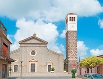 Santa Maria-kerk in Cabras Stock Afbeeldingen