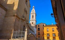 Santa Maria-Kirche in Xativa von Valencia lizenzfreie stockbilder