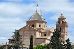Santa Maria kyrka, Velez Rubio, Spanien. arkivbild