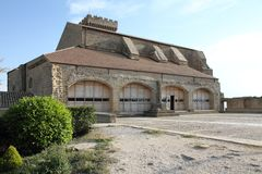Santa Maria kyrktar, Ujue, Navarre, Spanien Royaltyfri Bild