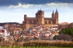 Santa Maria la Mayor Church en Alcaniz Aragón Foto de archivo libre de regalías