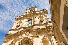Santa Maria La Nova kyrka, Scicli, Sicilien Arkivbild