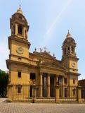 Santa Maria la Real Cathedral i Pamplona Arkivbilder