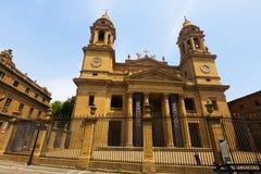 Santa Maria la Real Cathedral i Pamplona, Spanien Fotografering för Bildbyråer