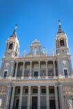 Santa Maria la Real de La Almudena Cathedral, Madrid Immagini Stock Libere da Diritti
