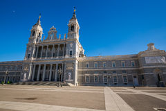 Santa Maria la Real de La Almudena Cathedral, Madrid Fotografie Stock Libere da Diritti