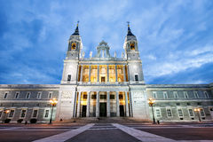 Santa Maria la Real de La Almudena Catholic cathedral in Madrid Royalty Free Stock Photos