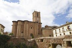 Santa Maria La Real Monastery in Najera, La Rioja, Spain. Part of the Way of St. James Stock Photo