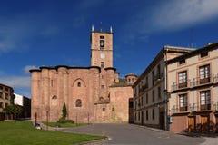 Santa Maria La Real Monastery Najera, väg av Royaltyfri Bild