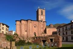 Santa Maria La Real Monastery Najera Way St James La Rioja Arkivfoton