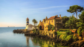 Santa Maria lighthouse , Cascais, Portugal Stock Photography