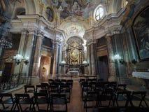Santa Maria Maddalena church in Alba. ALBA, ITALY - CIRCA FEBRUARY 2019: Santa Maria Maddalena (Saint Mary Magdalene) church royalty free stock images