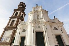 Santa Maria Maddalena Church in Atrani Royalty Free Stock Photos