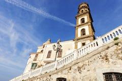Santa Maria Maddalena Church in Atrani Royalty Free Stock Image