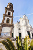 Santa Maria Maddalena Church in Atrani Stock Image