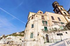 Santa Maria Maddalena Church in Atrani Royalty Free Stock Images