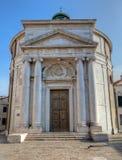 Santa Maria Maddalena church, Cannaregio, Venezia, Italia. La Santa Maria Maddalena church in Cannaregio, Venice, Italy, with  masonic symbols of the Knights Stock Photos