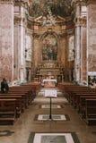 Santa Maria Maddalena church. Inside view. Rome, Italy. Royalty Free Stock Photos