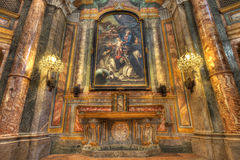 Santa Maria Maddalena church interior. Royalty Free Stock Images