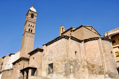 Santa Maria Magdalena church, Tarazona (Spain) Royalty Free Stock Photos