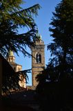 Santa Maria Maggiore beyond the trees Stock Photos
