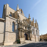 Santa Maria Maggiore church Montblanc, Tarragona Spain Royalty Free Stock Image