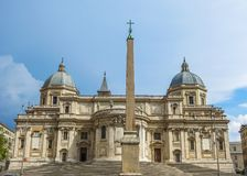 Santa Maria Maggiore Rear View Imágenes de archivo libres de regalías