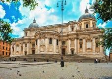 Santa Maria Maggiore Roma Royaltyfri Fotografi