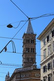 Santa Maria Maggiore in Rome. In this photo of rome appears the bell tower of Santa Maria Maggiore basilica. The church, which has retained its early Christian stock image