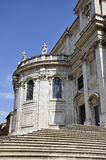 Santa Maria Maggiore stair Royalty Free Stock Photography