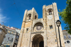 Santa Maria Maior cathedral Lisbon, Portugal Stock Photography