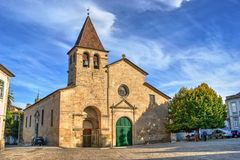 Santa Maria Maior church in Chaves stock image
