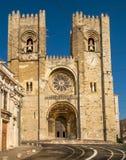 Santa Maria Maior de Lisboa eller Se de Lissabon, Lissabon, Portugal Royaltyfri Fotografi