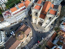 Santa Maria Maior (or Se Cathedral) the oldest church in the city of Lisbon, Portugal Stock Photos