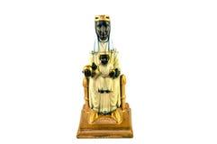 Santa Maria Montserrat, Patrones van Catalonië en zuigeling Christus Stock Foto's