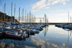 Santa Maria Navarrese, Ogliastra, Seehafen Stockfotografie
