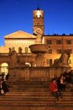 Santa Maria no quadrado de Trastevere Foto de Stock Royalty Free