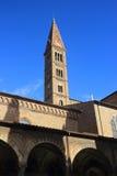 Santa Maria Novella Belltower Florence Arkivbild