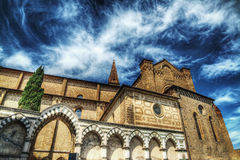 Santa Maria Novella cathedral in hdr. Tone mapping effect Stock Image