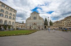 View of Santa Maria Novella church in Florence, Tuscany, Italy stock photography