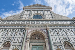 Santa Maria Novella church in Florence, Italy. Santa Maria Novella church facade by Leon Battista Alberti located in Florence, Italy Stock Image