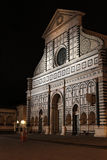 Santa Maria Novella Church by night Royalty Free Stock Photos