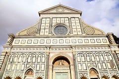 Santa Maria Novella en kyrka i Florence, Italien Fotografering för Bildbyråer