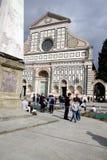 Santa Maria Novella i Florence Arkivfoton