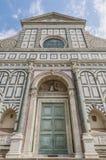 Santa Maria Novella kyrka i Florence, Italien Fotografering för Bildbyråer
