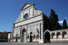 Santa Maria Novella n.1. Basilica of Santa Maria Novella in the homonymous square in Florence Stock Images